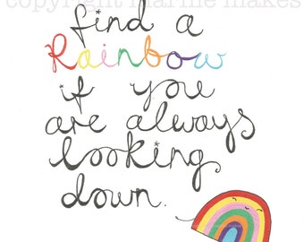 How To Find A Rainbow - giclee print