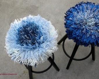 stool cushion *indigo* -set of two