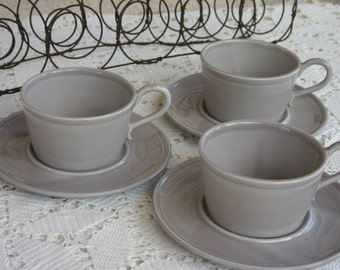 Anthropologie Cups and Saucers Made in Italy 6 pieces 3 cups 3 saucers Italian Cappuccino