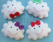 Happy Cloud Felt Tooth Fairy Pillow