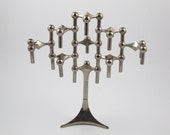 Set of 8 & Base for Candle holders S22 designed by Ceasar Stoffi and Fritz Nagel and manufactured by BMF