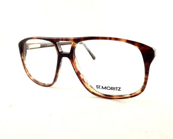 Tortoise Shell Aviators Big Square Mens Eyeglasses Vintage