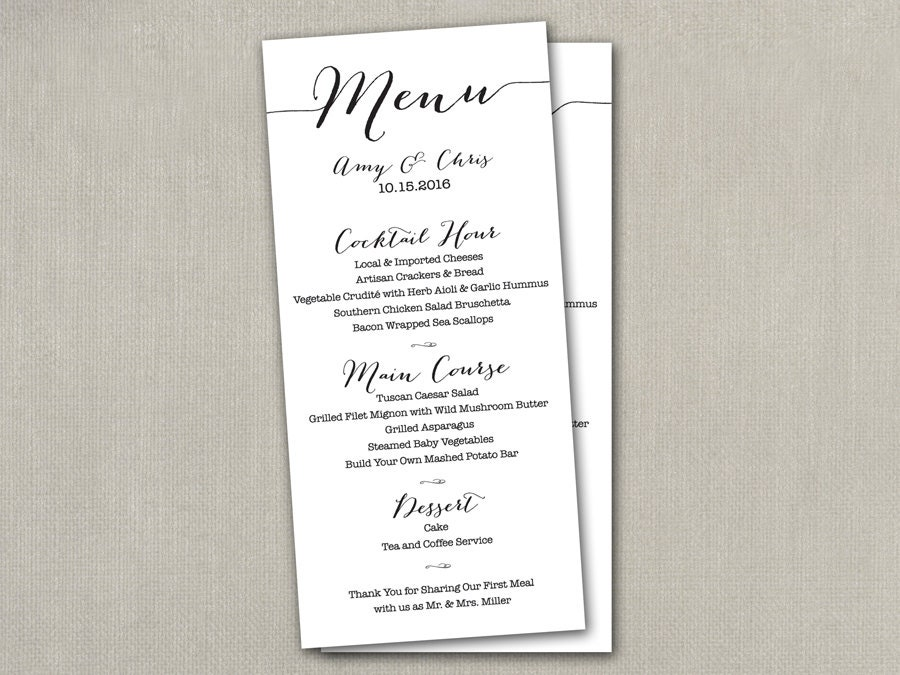 carte de menu mariage diy mariage menu menu de mariage. Black Bedroom Furniture Sets. Home Design Ideas
