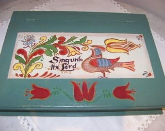 Hand Painted Writing box signed andf by me