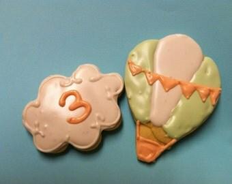 Hot Air Balloon Cookies (2Dozen)