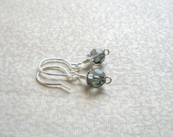 Susan - Dove Gray Earrings, Ready to Ship