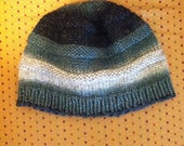 Hand Knit Beehive Style Beanie