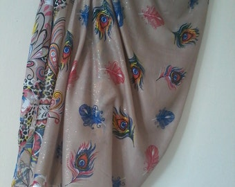 Sarong Pareo, Beach Cover Up, Pareo, Peacock, Summer Fashion, Summer Cover Up, Cotton Pareo, Women Clothing
