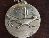 Vintage Bell Trading Company Road Runner Necklace