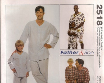McCall's Sewing Pattern 2518 - Men's & Boys' Pajama Top, Pants, and Shorts
