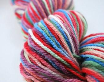 Hand painted merino wool - Hugs & Kisses