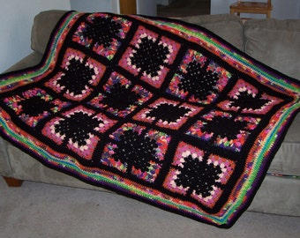 Butterfly Plaid granny square afghan