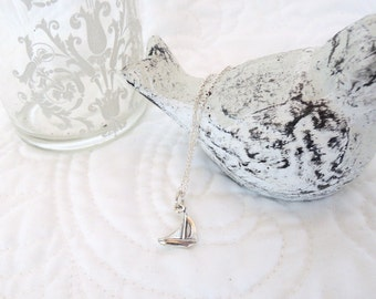 Sterling Silver Sailboat Charm Sterling Chain Under 35