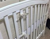 Vintage LINEN Crib Bumper- Restoration Hardware Inspired- Choose your own colors