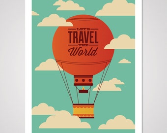 Travel the World - 18x24 Art Print