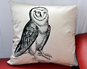 Owl pillow. Owl cushion. Cushion cover. Pillow cover.