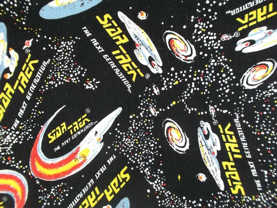 vintage star trek the next generation fabric quilting fabric