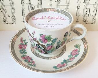 Oriental Floral Teacup Candle