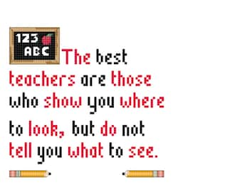 Best Teachers Cross Stitch Pattern