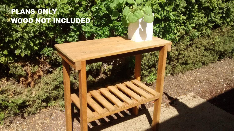 Diy plans rustic garden table outdoor furniture for for Rustic outdoor furniture