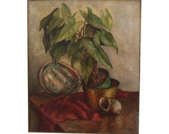 Gorgeous Vintage Still Life Painting by Doris Zinn