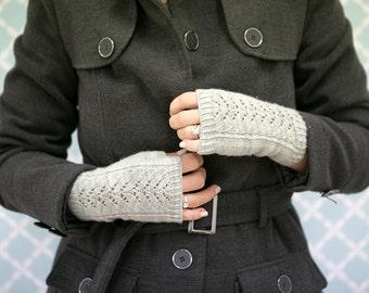 Inverto Fingerless Mitts Knitting Pattern