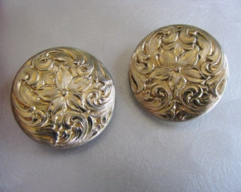 Vintage Napier Edition Gold Earrings - Vintage Round Clipons - Vintage Goldtone Earrings