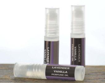 Lavender Vanilla Sleep Time Perfume Oil Roll On - lavender perfume oil - vanilla perfume oil - relaxing perfume oil - feminine perfume oil