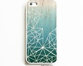 iPhone 5 Rubber Case. iPhone 5S Case. Deep Teal Ombre Geometric. iPhone 5S Cases. Rubber iPhone Cases. Phone Case.