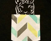 Tiger in a Pocket Tank or Tee