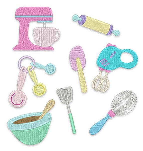 Kitchen Mini 39 S Embroidery Design Set Instant Download