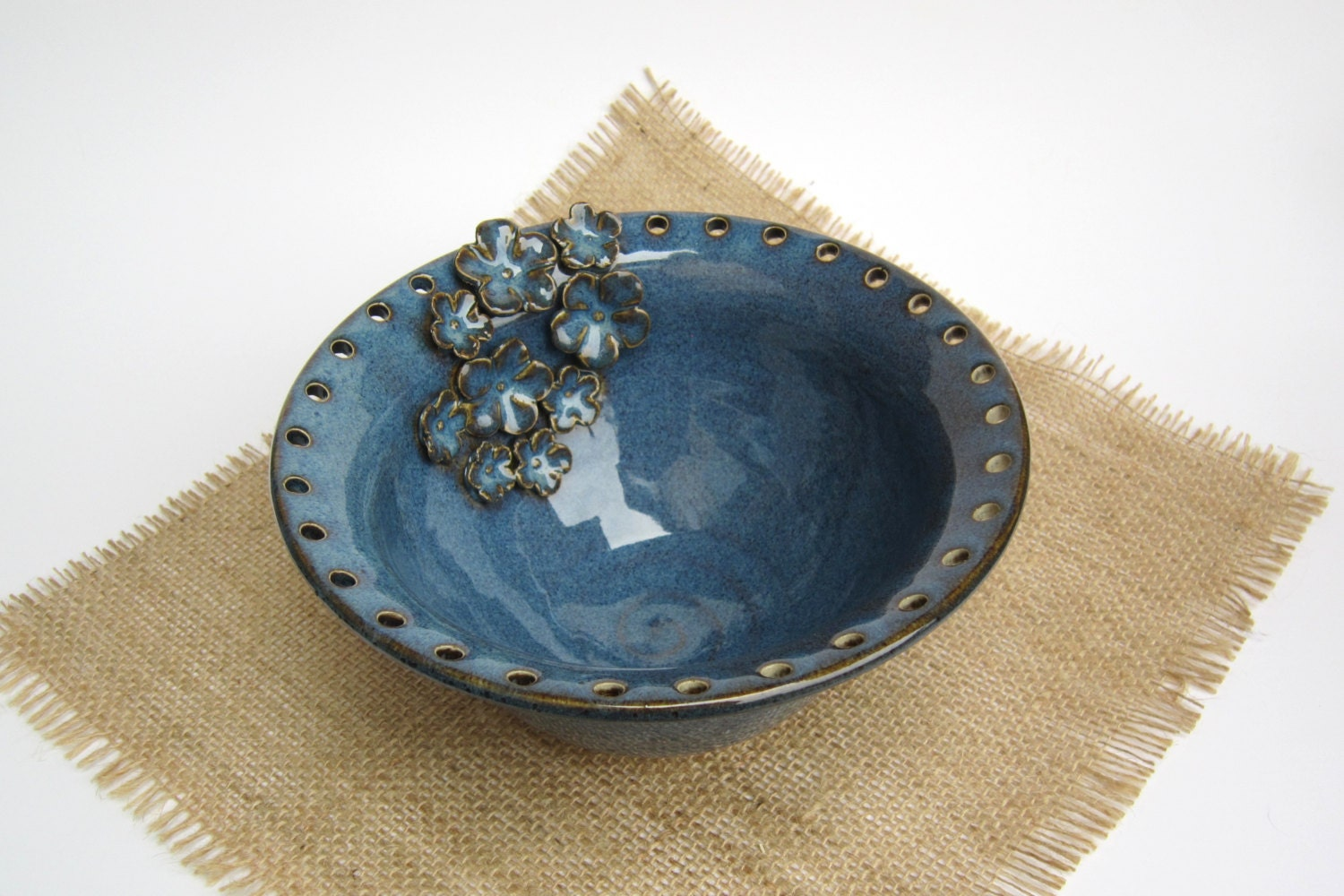 Blue Jewelry Bowl Earring Holder By Laurawilson2 On Etsy