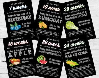 Pregnancy Cards Week by Week Chalkboard Baby Announcement