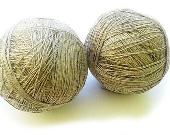3ply  linen yarn linen thread 100%pure linen natural linen flex thick yarn crochet gray yarn