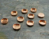 pkg of (10) - 8mm Round Copper Bezel Cups