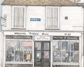 """Greeting Card - Whitstable Produce Store - 7"""" x 5"""""""