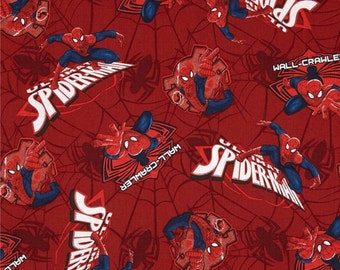 Spider-man Wall Crawler Cotton Fabric