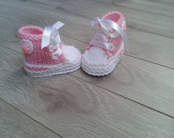 Hand knitted baby girl  booties,Baby girl sandals,Baby Photo prop