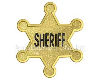 Sheriff Star Badge Machine Embroidery Design Western Cowboy Wild West INSTANT DOWNLOAD