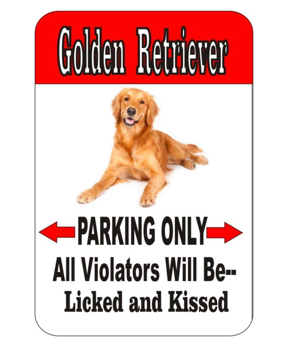 golden retriever sign, dog sign, funny sign, funny metal sign, yard sign, garage sign, house sign,indoor/outdoor sign,