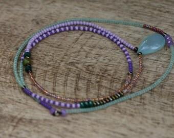 Single Beaded Strand * Gratitude for Each Seed* Necklace N.2- beaded simple,single strand,simple,festive,multicolor,boho,bohemian,ethnic