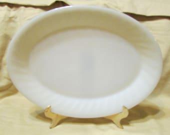 vintage Ivory swirl fire king platter