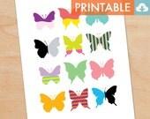 Butterflies Waldorf Montessori Printable - DIY Print 8x10 and 11x14 sizes