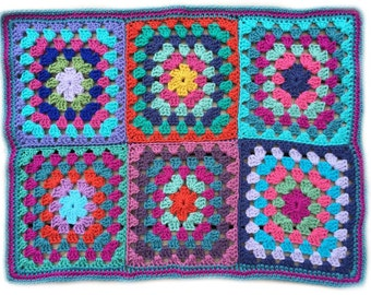 Crochet baby blanket crochet baby afghan handmade granny square baby blanket 22 in. x 30 in., READY TO SHIP