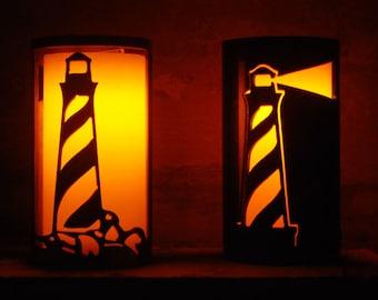 Lighthouse - 1153 - Metal Candle Holder Luminary
