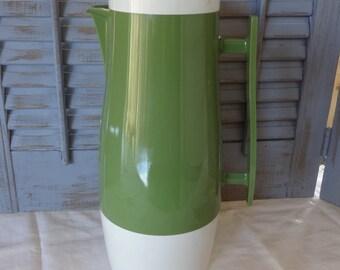 Aladdin Beverage Butler Vintage Coffee Server Thermos Caraffe Avocado Green Mod Hippie Era Retro Kitchen Pitcher Serving