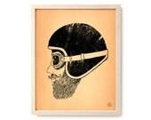"Motorcycle Art Print ""Moto Head"""