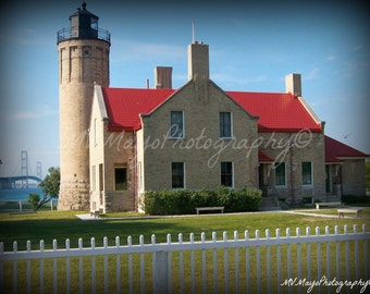 Lighthouse / Mackinac Lighthouse / Michigan Lighthouse / Free US Shipping