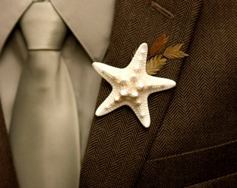 Real Knobby Starfish Boutonniere