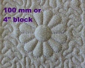 EMBROIDERY PATTERN 100 mm in-the-hoop quilt block - trapunto dresden flower for 100 mm hoop